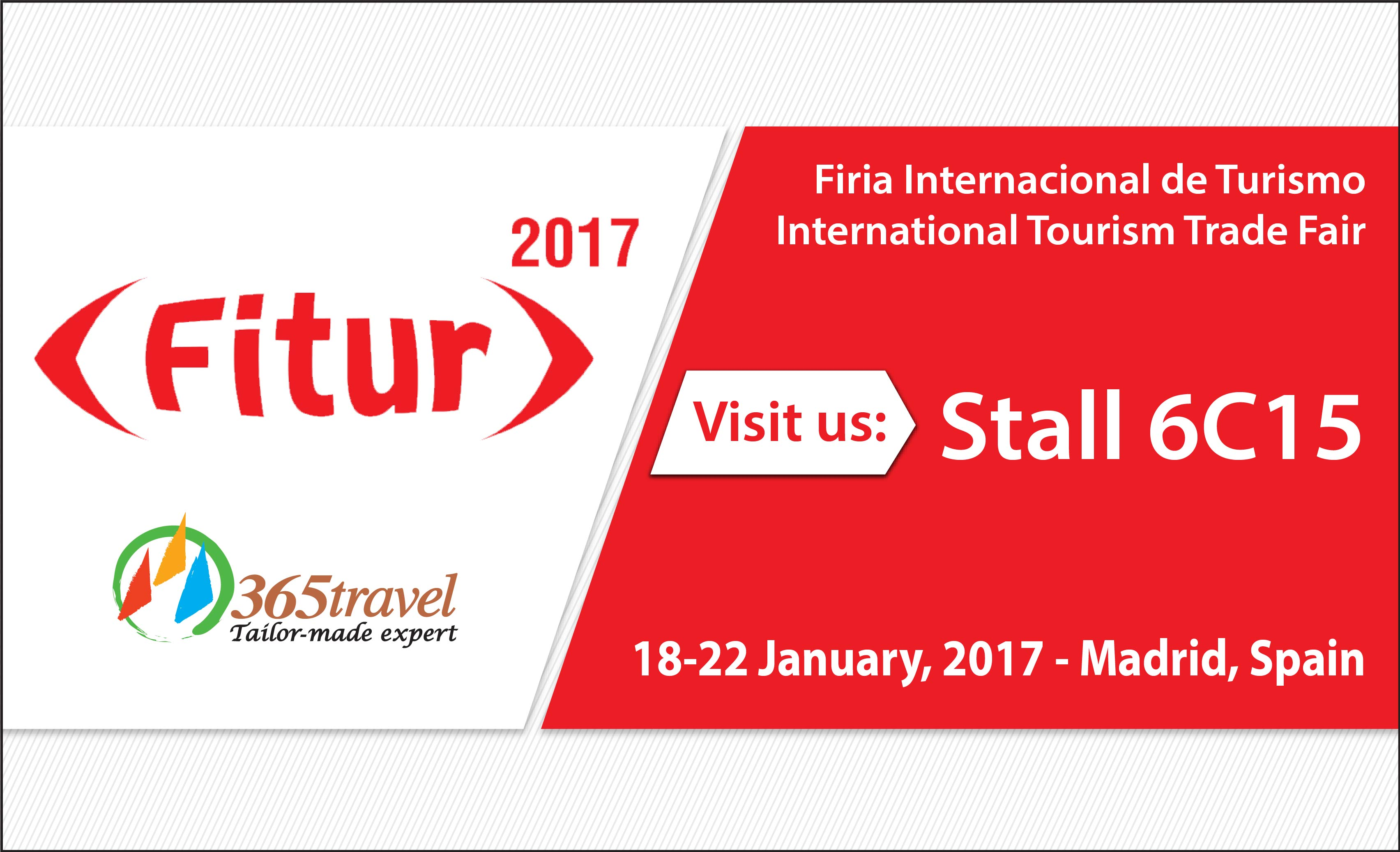 Come and visit 365 Travel at FITUR 2017