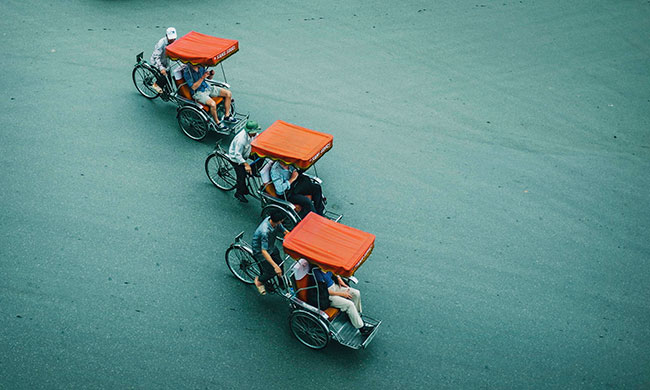 A cyclo tour around Hanoi