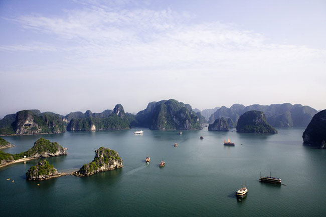Halong Bay view from sky