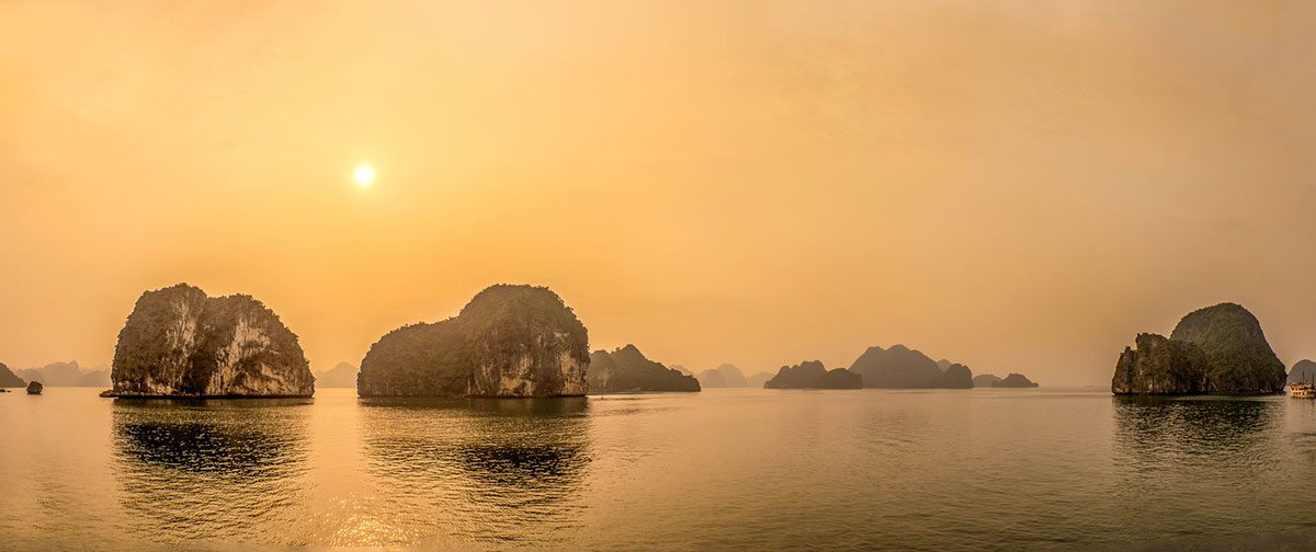Halong Bay at sunrise