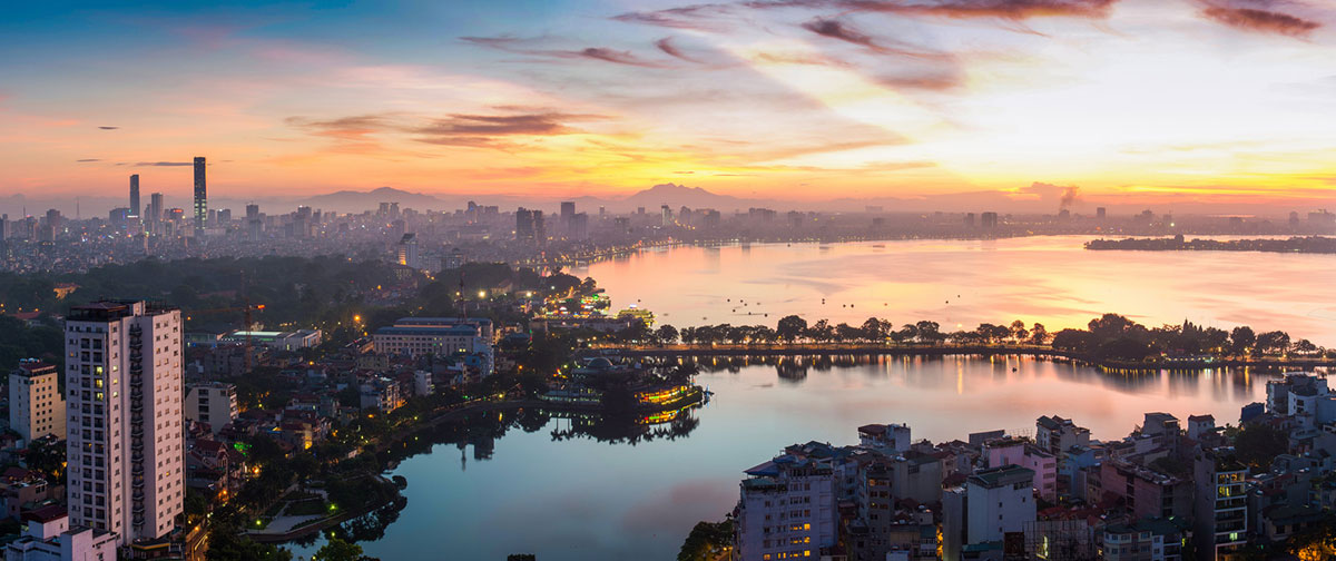 Hanoi Panorama at night