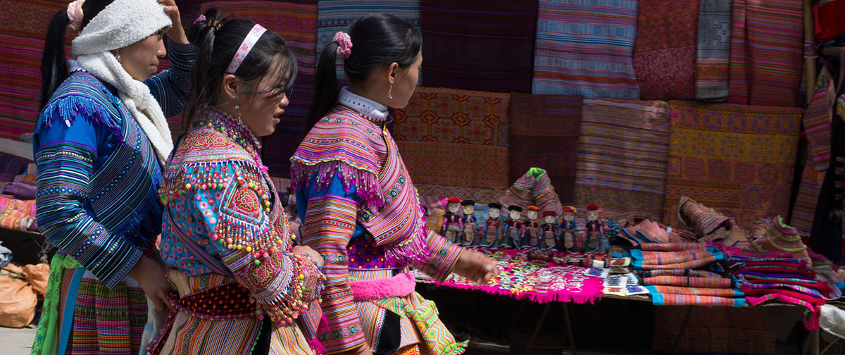 H'mong Girls at Bac Ha market