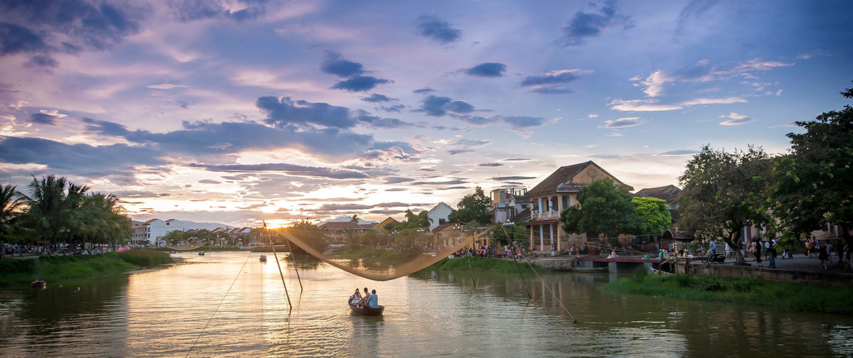 Sunset Boat Trip On Thu Bon River