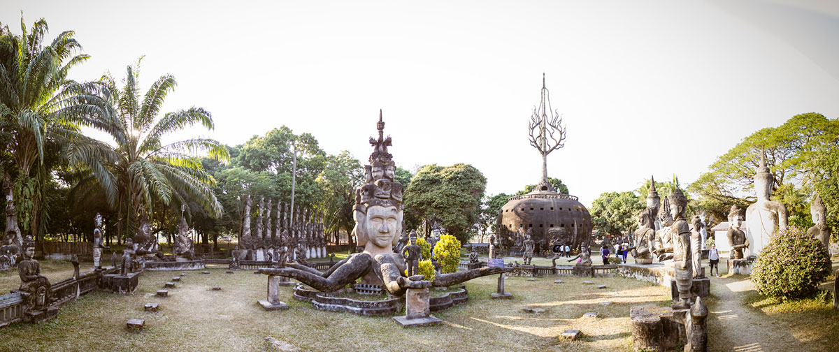 The Buddha park near the Vientiane center