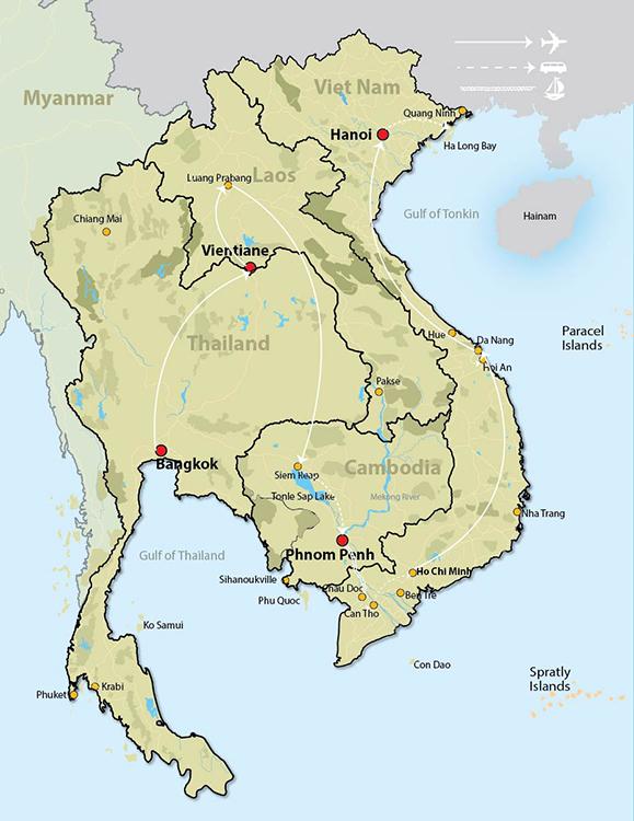 cambodia and laos map Panorama Of Vietnam Cambodia Laos Thailand cambodia and laos map
