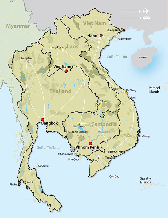 laos and cambodia map Highlight Of Thailand Laos Cambodia laos and cambodia map